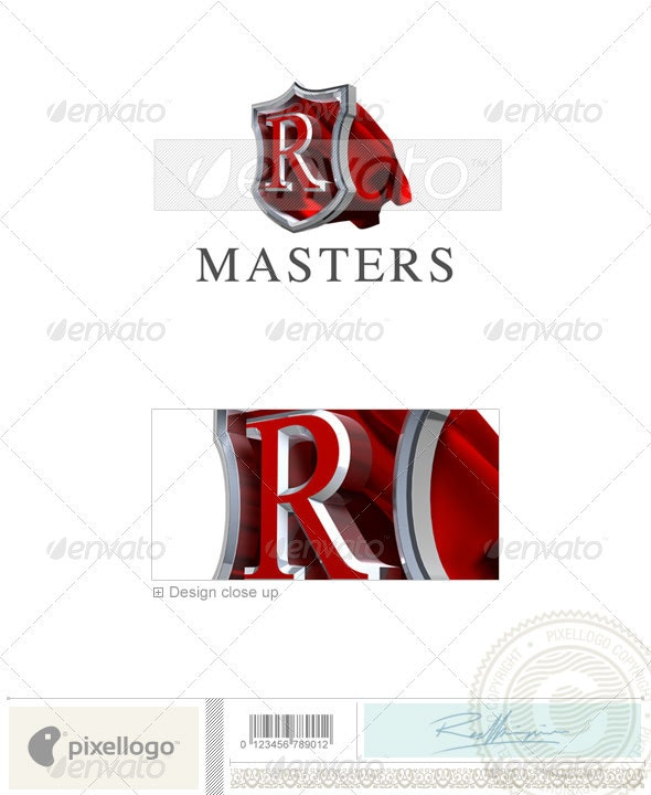 R Logo - 3D-259-R - Letters Logo Templates