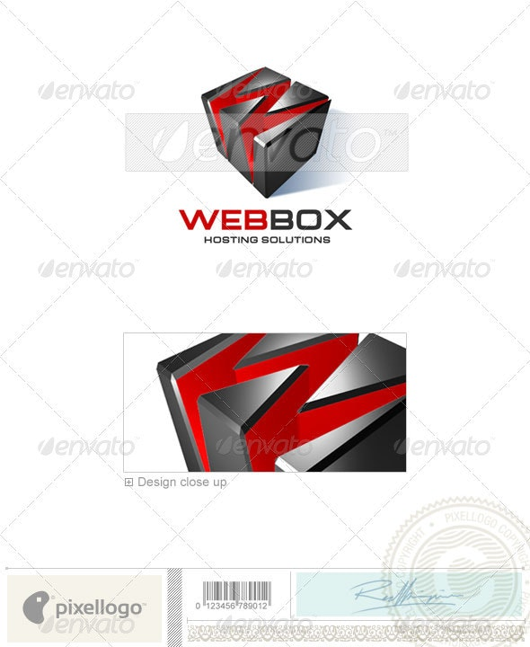 Technology Logo - 3D-100 - 3d Abstract