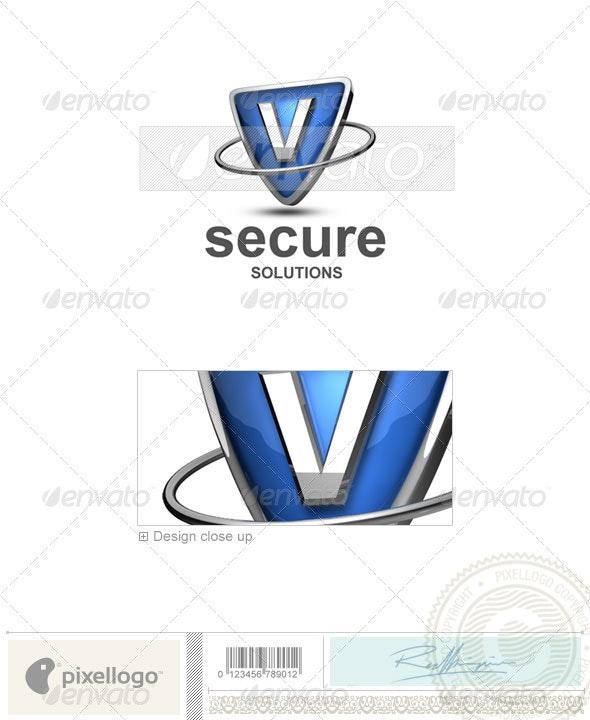V Logo - 3D-285-V - Letters Logo Templates