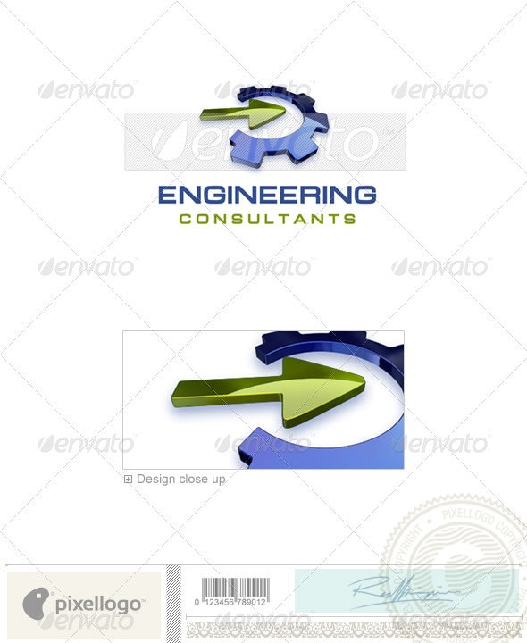 Industry & Science Logo - 3D-325 - 3d Abstract