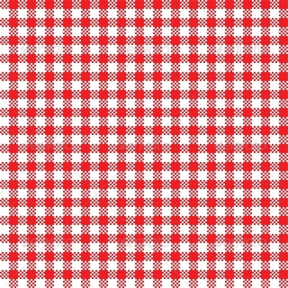 Red And White Tablecloth Pattern By Svetaaho Graphicriver