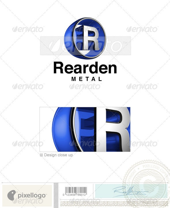 R Logo - 3D-438-R - Letters Logo Templates