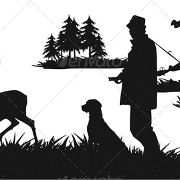 The Hunter with a Dog Lying in Wait for Deer