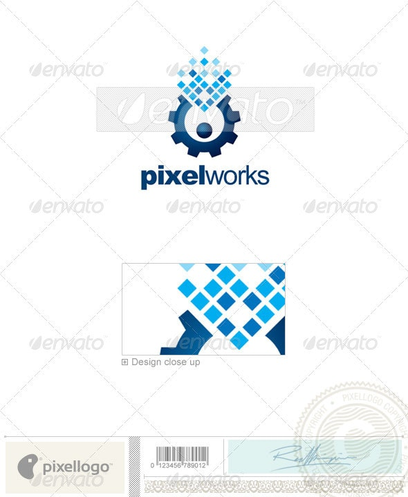 Industry & Science Logo - 2243 - Vector Abstract