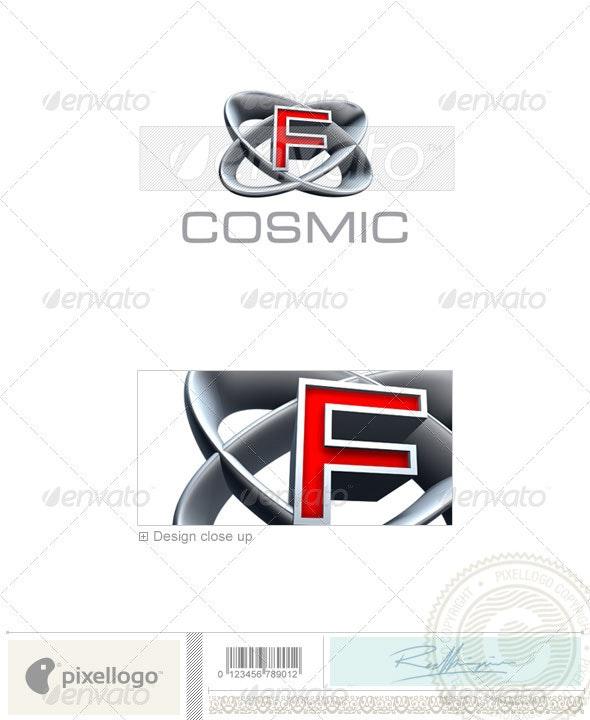 F Logo - 3D-348-F - Letters Logo Templates