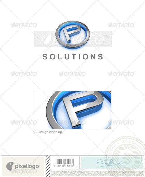 P Logo - 3D-683-P - Letters Logo Templates