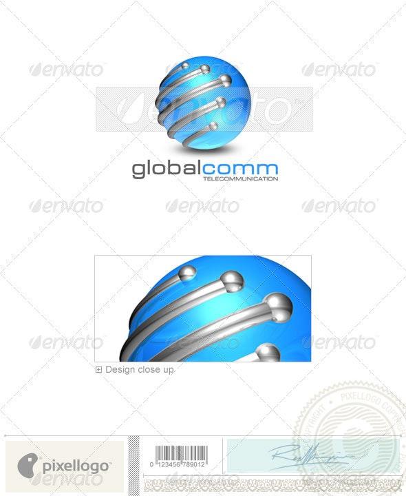 Communications Logo - 3D-176 - 3d Abstract