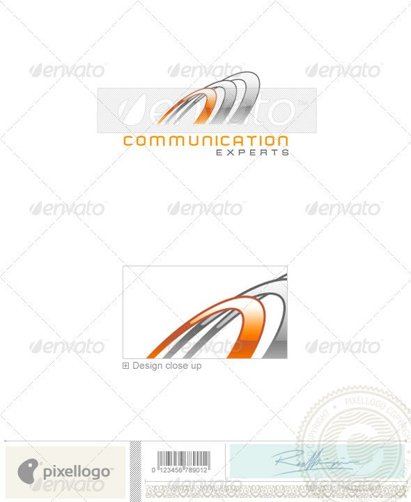 Communications Logo - 1408 - Vector Abstract