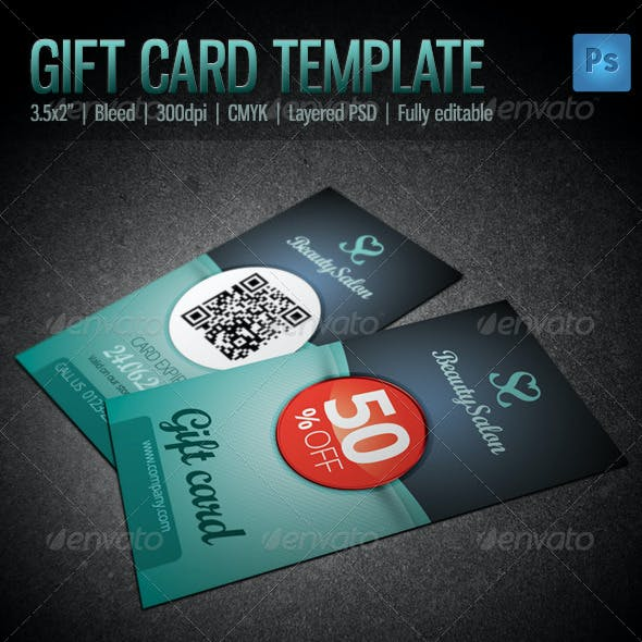 Gift / Voucher Card Template
