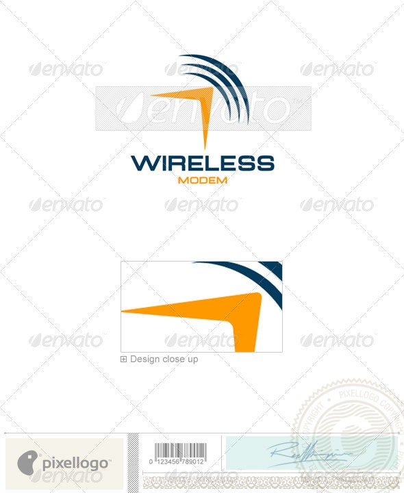 Communications Logo - 1196 - Vector Abstract