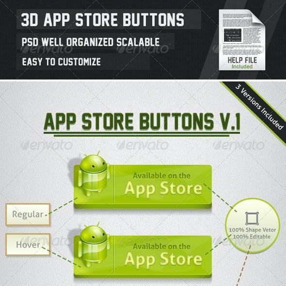 3D APP Store Buttons