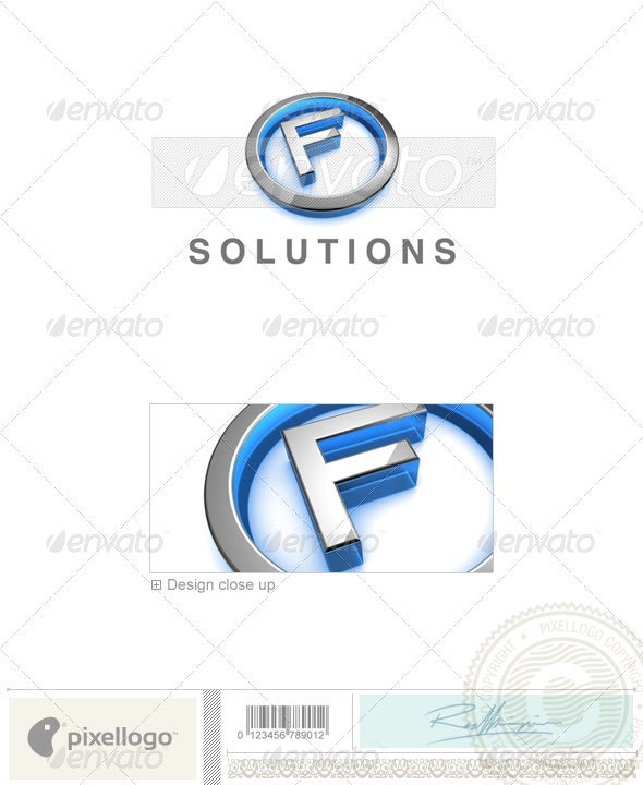 F Logo - 3D-683-F - Letters Logo Templates
