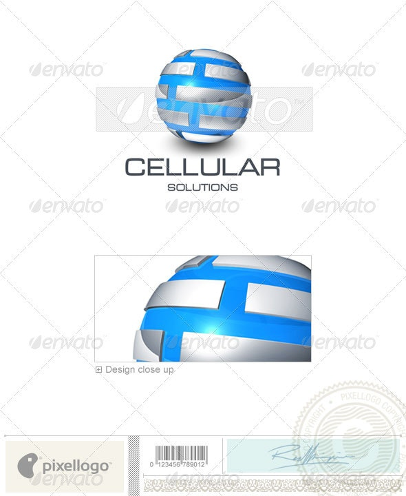 Communications Logo - 3D-427 - 3d Abstract