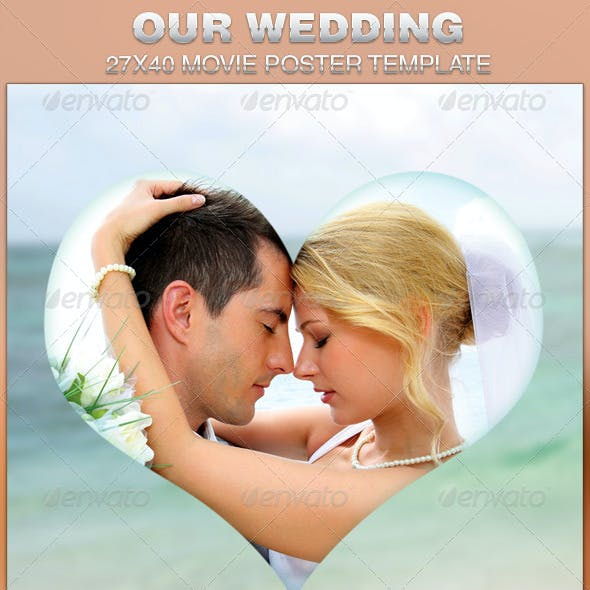Our Wedding Movie Poster Template