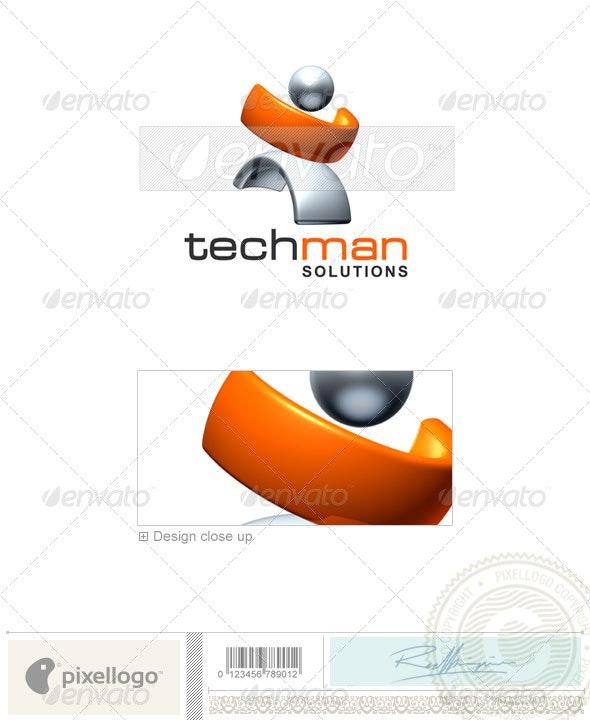 Technology Logo - 3D-386 - 3d Abstract