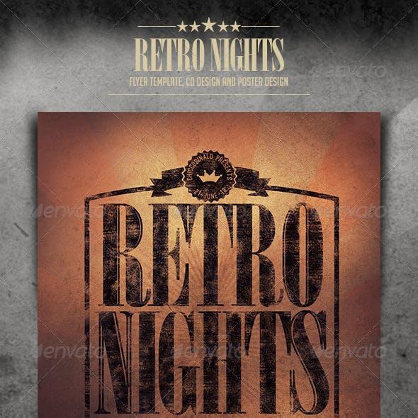 Retro Nights Flyer Template