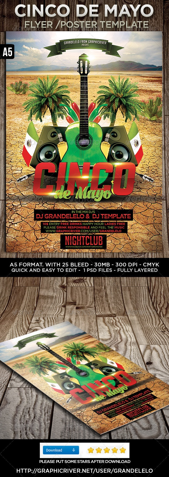5 de Mayo Flyer Poster Template - Holidays Events