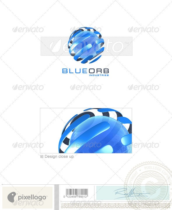 Communications Logo - 3D-75 - 3d Abstract