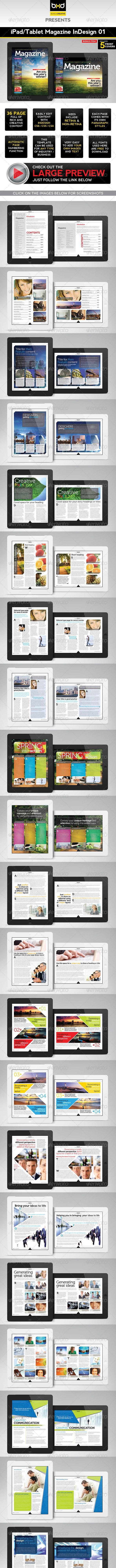 iPad/Tablet Magazine InDesign Layout 01 - Digital Magazines ePublishing