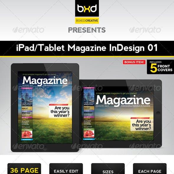 iPad/Tablet Magazine InDesign Layout 01