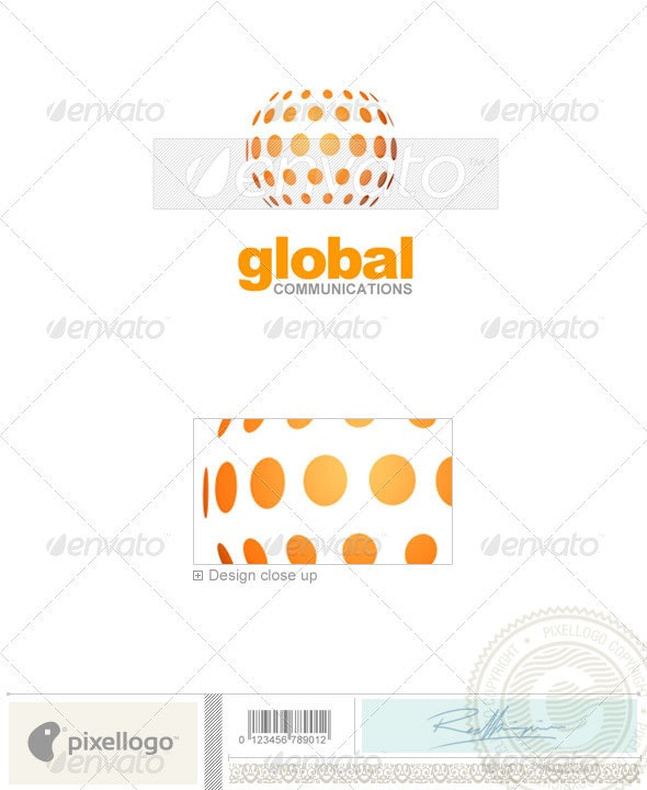 Communications Logo - 1191 - Vector Abstract