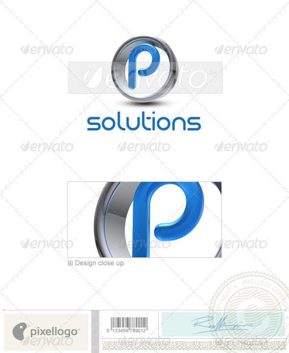 P Logo - 3D-288-P - Letters Logo Templates