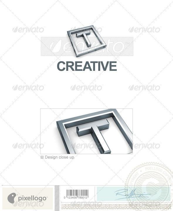 T Logo - 3D-295-T - Letters Logo Templates