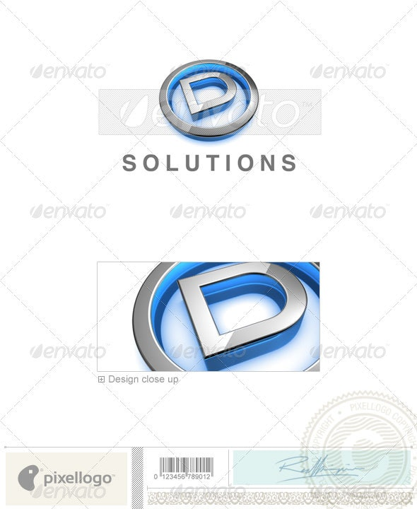 D Logo - 3D-683-D - Letters Logo Templates