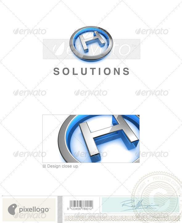 H Logo - 3D-683-H - Letters Logo Templates