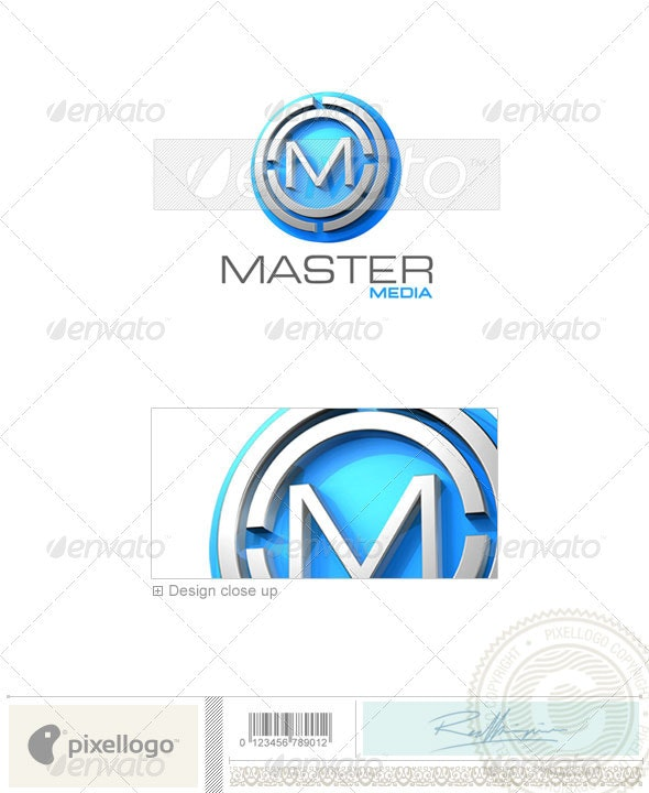 M Logo - 3D-179 - Letters Logo Templates