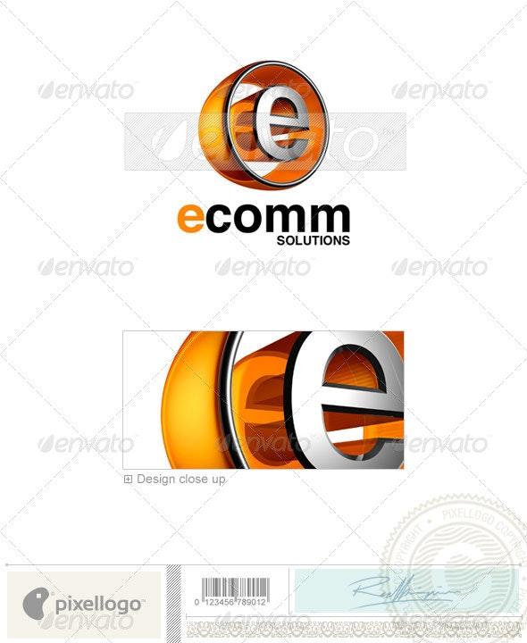 E Logo - 3D-438-E - Letters Logo Templates