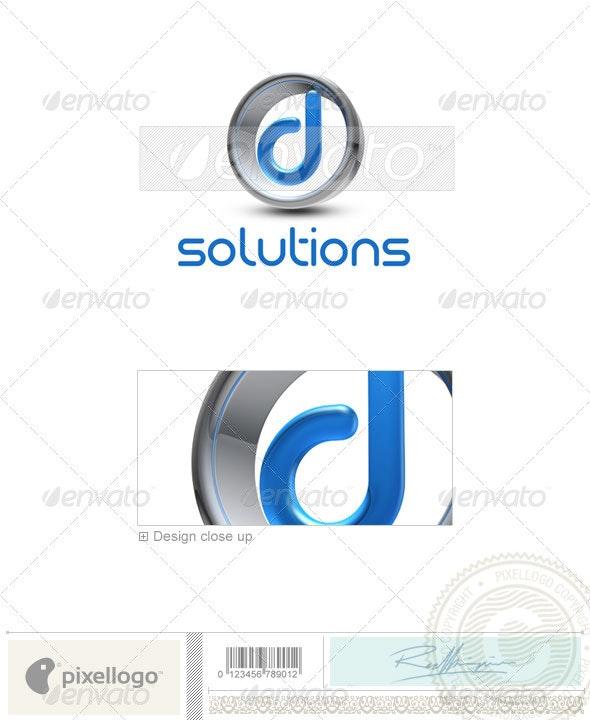 D Logo - 3D-288-D - Letters Logo Templates