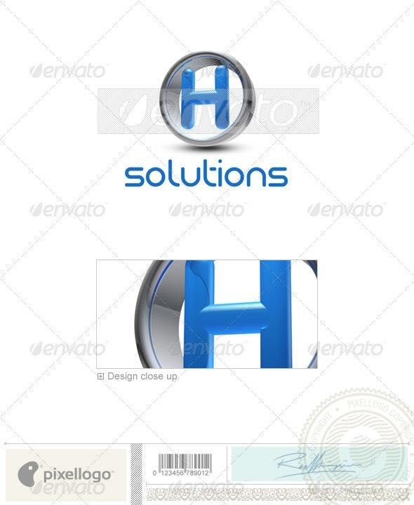 H Logo - 3D-288-H - Letters Logo Templates