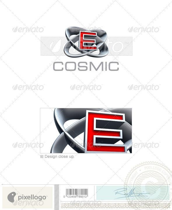 E Logo - 3D-348-E - Letters Logo Templates