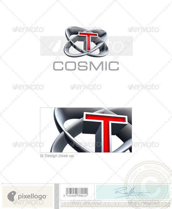 T Logo - 3D-348-T - Letters Logo Templates