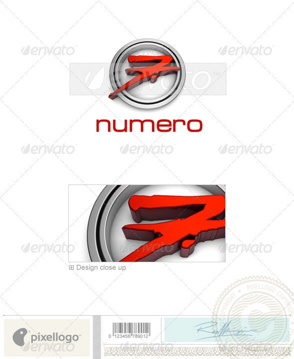 Numbers Logo - 3D-35 - Numbers Logo Templates