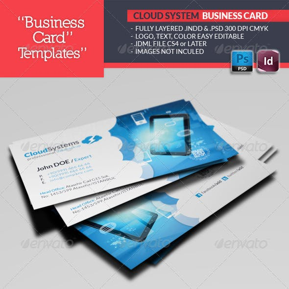 Cloud Systems Business Card Template