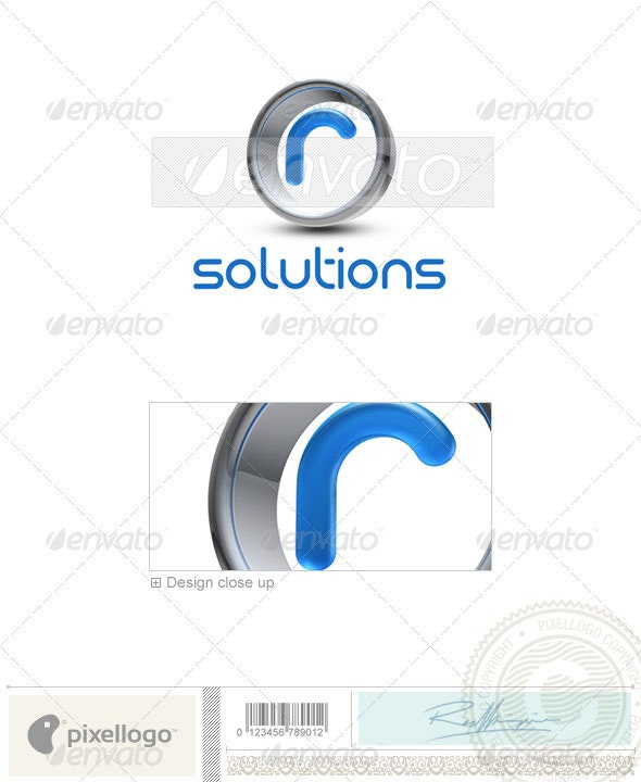 R Logo - 3D-288-R - Letters Logo Templates