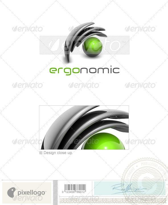 Technology Logo - 3D-329 - 3d Abstract