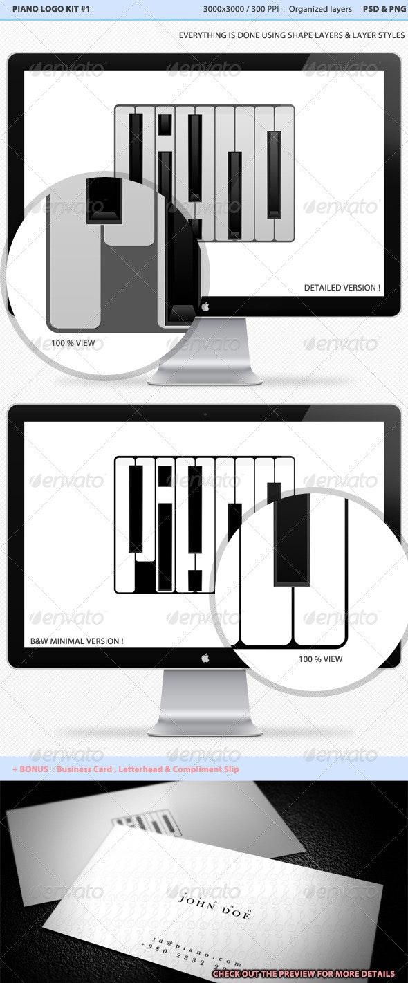 Piano Logo - Abstract Logo Templates