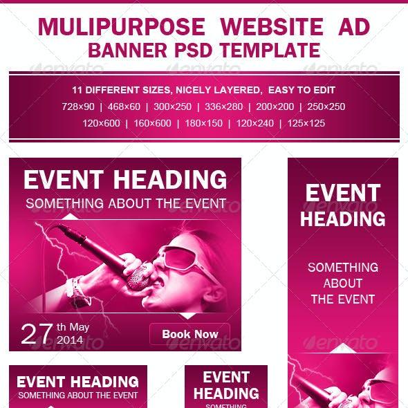 Multipurpose Event Promotion Ad PSD Template
