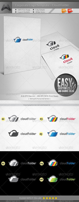Corporate Logo - Cloud Folder - Objects Logo Templates