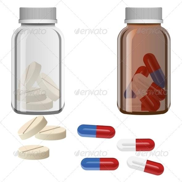 Pill Vector - Health/Medicine Conceptual