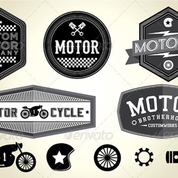 Vintage Motor Badges