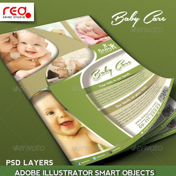 Kids Care Promotion Flyer/Poster Template