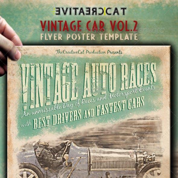 Vintage Car Flyer/Poster Vol.2
