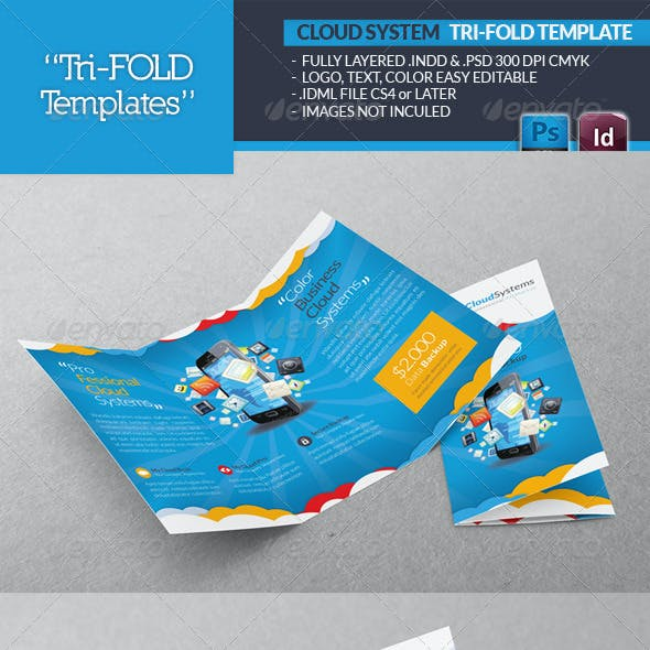 Cloud Systems Tri-Fold Template