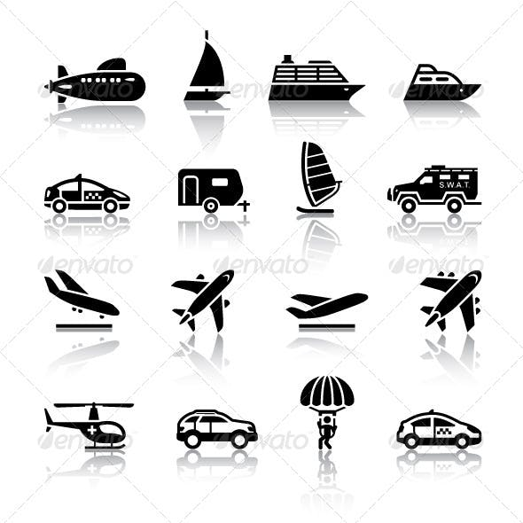 16 Transport Icons