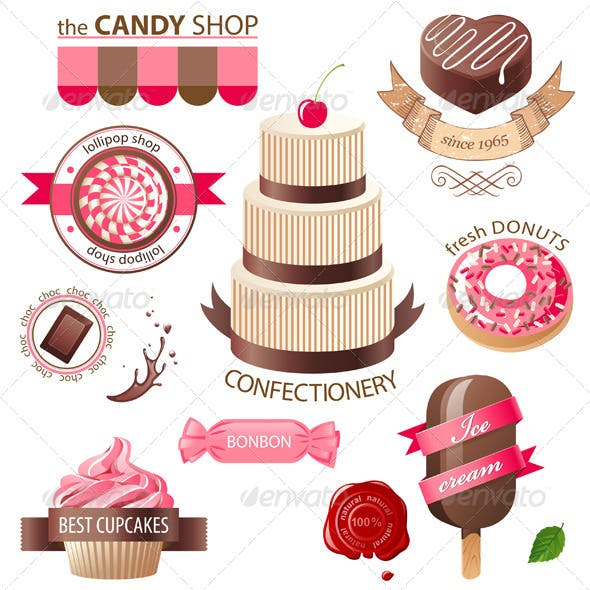 Sweets and Candies Emblems