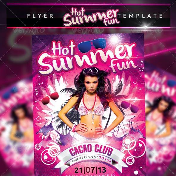 Hot Summer Fun Flyer Template